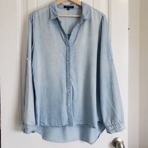 VELVET HEART Chambray Button Down w/ Roll Sleeves